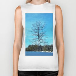 Alone and Leafless Biker Tank