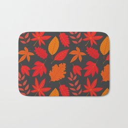 Red autumn leaves Bath Mat