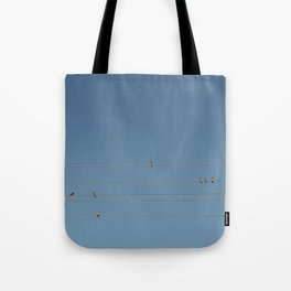swalows on wire Tote Bag