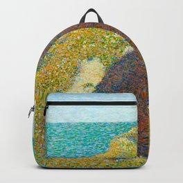 Le Bec du Hoc Grandcamp Georges Seurat - 1885 Impressionism Modern Populism Oil Painting Backpack