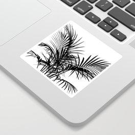 Little palm tree in black Sticker