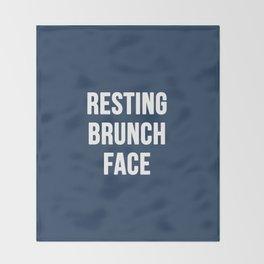 Resting Brunch Face Throw Blanket