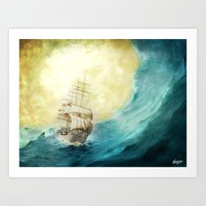 Through Stormy Waters Art Print