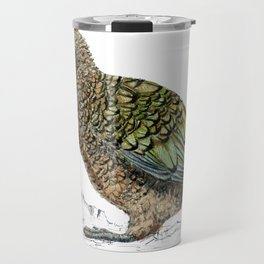 Mr Kea, New Zealand parrot Travel Mug