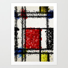 Mondrian with a twist Art Print