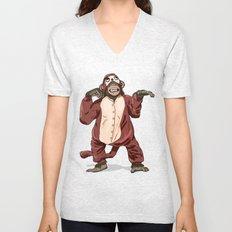 Monkey Onesie Unisex V-Neck