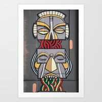 totem Art Prints featuring Totem by Sébastien BOUVIER