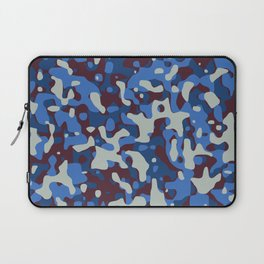 Blue & Burgandy Camo Pattern Laptop Sleeve