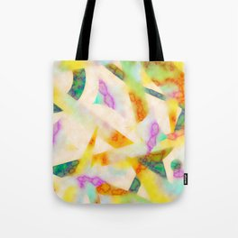 Yellow Marble Fade Tote Bag