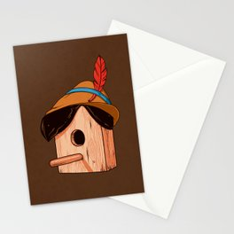 Woodpecker´s house Stationery Cards