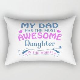 AWESOME DAUGHTER Rectangular Pillow