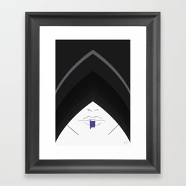 ... the hood was adopted to give her a more mysterious, stealthy look.  Framed Art Print