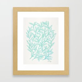 Branches – Mint Palette Framed Art Print