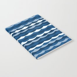 Classic Blue Wave Pattern Notebook