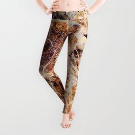Brown Marble Leggings