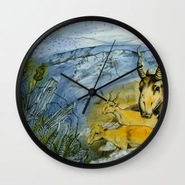 journey of the saiga antelope Wall Clock