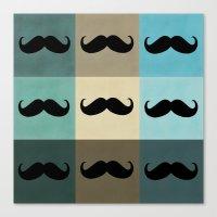 moustache Canvas Prints featuring Moustache by Zetanueta