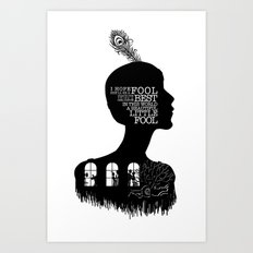 Daisy Buchanan - Quote Silhouette Art Print
