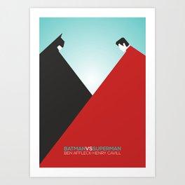 Bat vs Superman Art Print