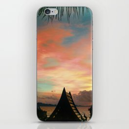 Red Ocean Sunset iPhone Skin