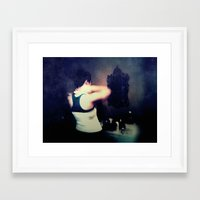 gray Framed Art Prints featuring Gray by Brookita