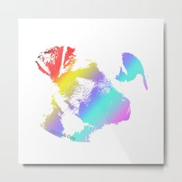 Puppy Dog & Rainbow Metal Print