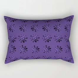 passion flower in violet Rectangular Pillow