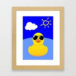 Cool Rubber Duck Yellow Framed Art Print