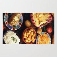 potato Area & Throw Rugs featuring Potato Foods by BravuraMedia