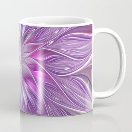 Pink Flower Passion, Abstract Fractal Art Coffee Mug
