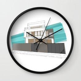 Stilt house Wall Clock