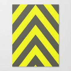 Chevrons warning sign Canvas Print