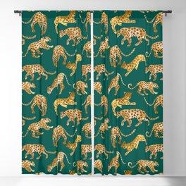 Jaguars in Jade Blackout Curtain