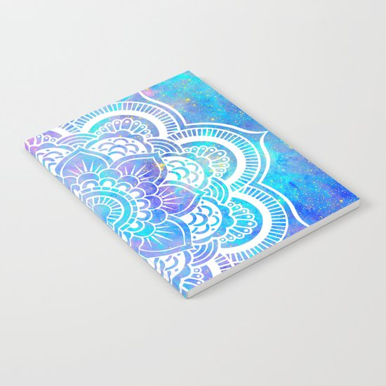 Mandala Pink Lavender Aqua Galaxy Space Notebook