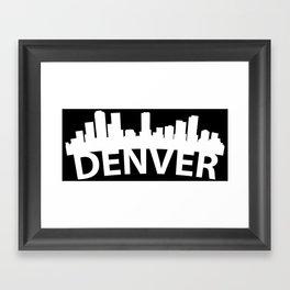 Curved Skyline Of Denver CO Framed Art Print