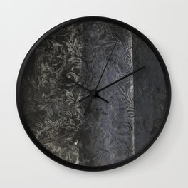 collage black Wall Clock