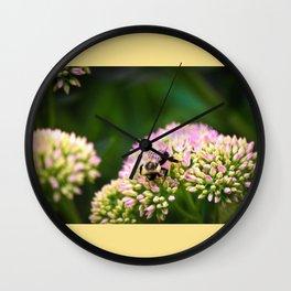 Bumble bee tan Wall Clock