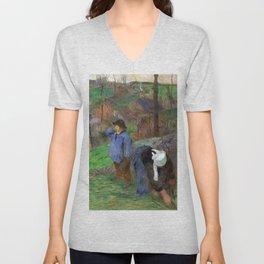 1888 - Gauguin - Landscape of Brittany Unisex V-Neck