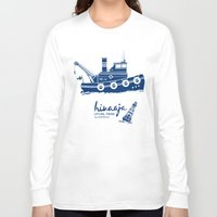 finland Long Sleeve T-shirts featuring Hinaaja (Finland) Gay Slang Collection. Blue. by Moscas de colores