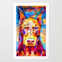 Doberman 3 Art Print