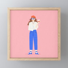 Wine Babe Framed Mini Art Print