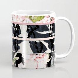 Pink Peony with Shibori Obi Band Print Coffee Mug