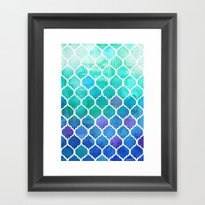 Emerald & Blue Marrakech Meander Framed Art Print