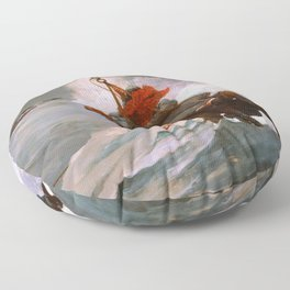 Winslow Homer1 - The Life Line - Digital Remastered Edition Floor Pillow