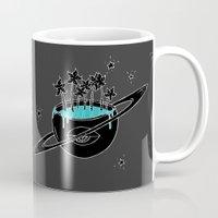 saturn Mugs featuring Saturn by shoooes