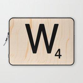 Scrabble Letter W - Scrabble Art and Apparel Laptop Sleeve