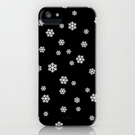 Snowing - black - more colors iPhone Case