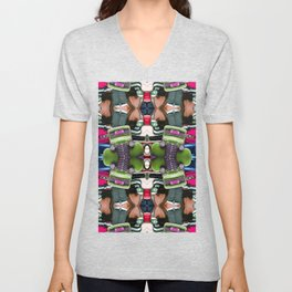 Abstract Auto Artwork Two Unisex V-Neck