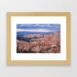 Sunset over Hoodoos - Bryce Canyon National Park, Rocky Natural Landscape, Utah Hiking Photography Framed Art Print