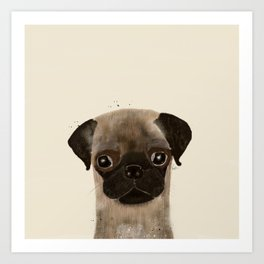little pug Art Print